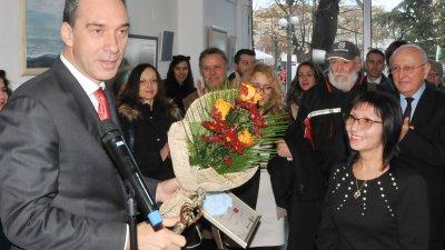 Кметът Димитър Николов поздрави Милена Добрева