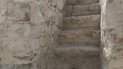 Стълбите открити в крепостнате стена