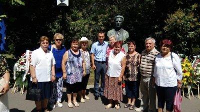 Тракийците поставиха цветя пред паметника на Левски в Морската градина. Снимка ТД Странджа
