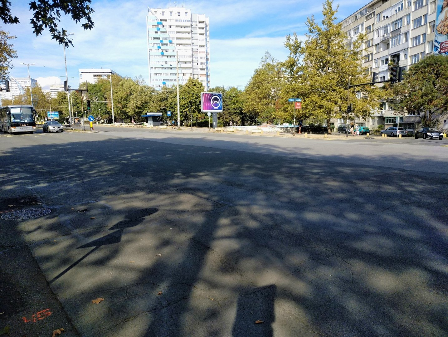 Шофьорите трябва да бъдат внимателни при движение в този участък. Снимка Община Бургас