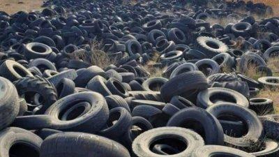 Старите автомобилни гуми замърсяват и въздуха. Снимка Архив