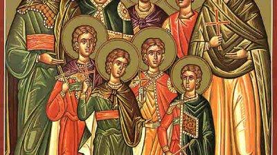 Църквата отдава почит на светите братя Макавеи