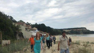 Министър Ангелкова участва в съвместна проверка на място. Снимка Министерсто на туризма