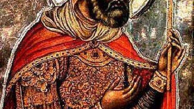 След погребението на Господа Иисуса Христа Лонгин пак стоял на стража при Гроба Господен