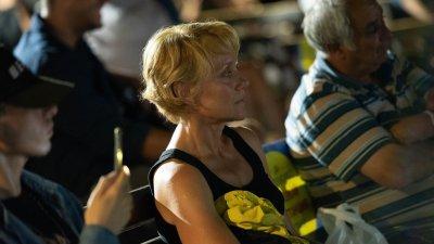 Койна Русева изгледа и двата филма, включени в програмата на фестивала в понеделник вечерта. Снимки BIFF