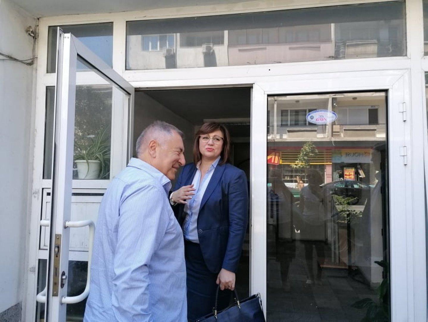 Настоящият председател на БСП Корнения Нинова е номинирана и от бургаската организация. Снимка Черноморие-бг