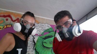 Красимир и Нина работят заедно по реализацията на проекта. Снимки Личен архив