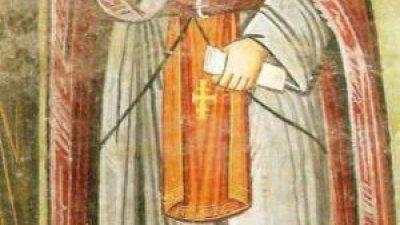На третия, ден след сатанинския побой свети Козма се причастил с пречистите Тайни Христови