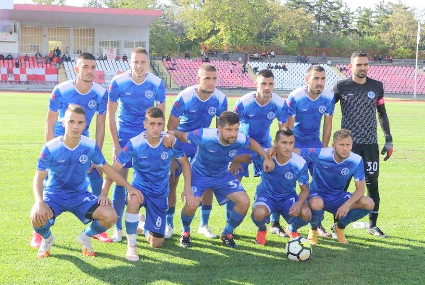 Черноморец успяха да спечелят три точки от гостуването си. Снимка ФК Черноморец