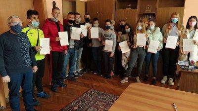 Учениците получиха сертификатите си за участие в състезанието по английски език