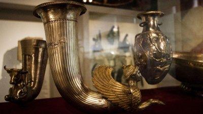 Златното съкровище е открито случайно през 1974 година. Снимка РИМ - Русе