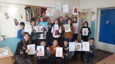 Децата от втори до четвърти клас се включиха в Творческата седмица. Снимки ОУ Найден Геров