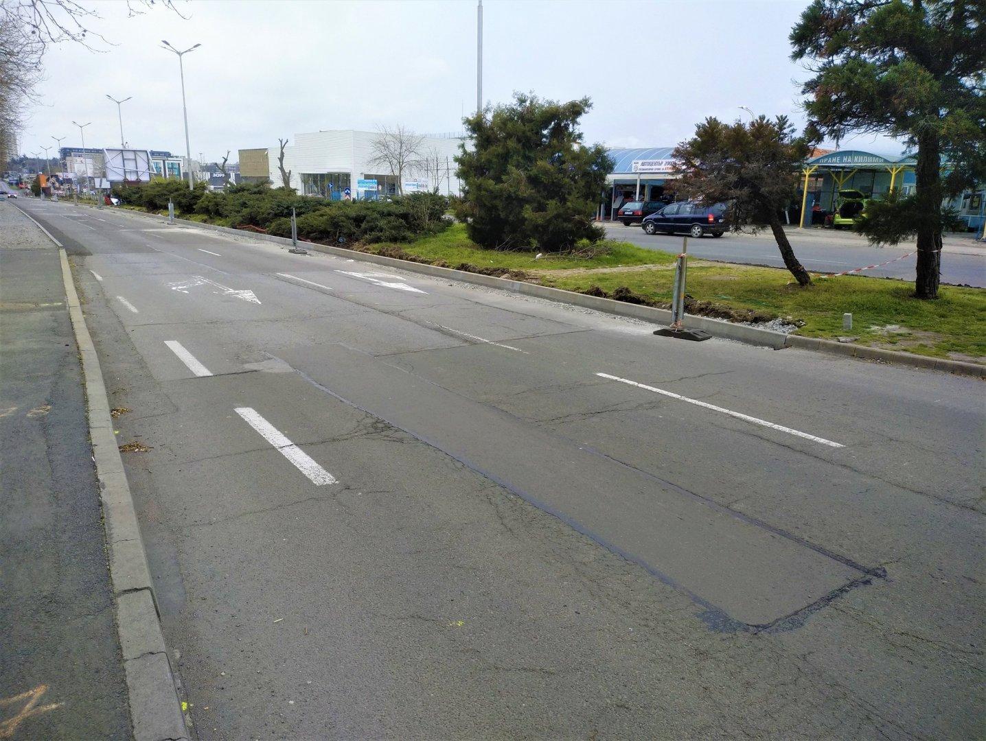 Движението ще бъде преустановено от 08.00 до 20.00 часа утре. Снимка Община Бургас
