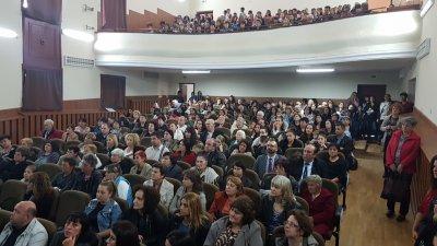 Залата на читалището беше пълна с жители на странджанския град