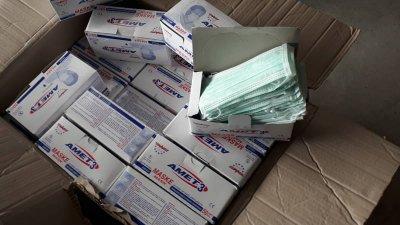 Маските са купени от Турция и са били предназначени за продажба в Румъния. Снимка Агенция Митници