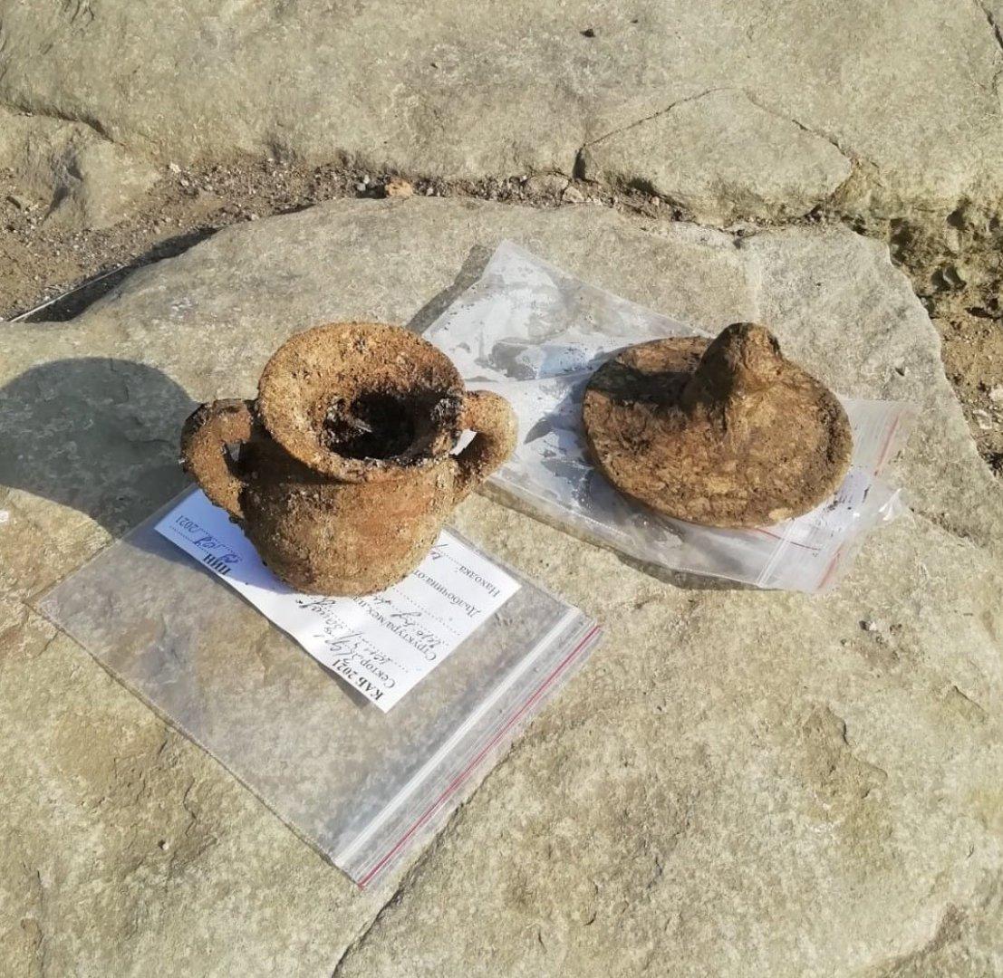 Това е част от находката открита при разкопките на Деултум. Снимка Красимира Костова