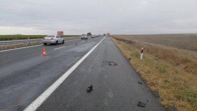 Инцидентът е станал тази сутрин в района на Карнобат. Снимки ОД на МВР - Бургас