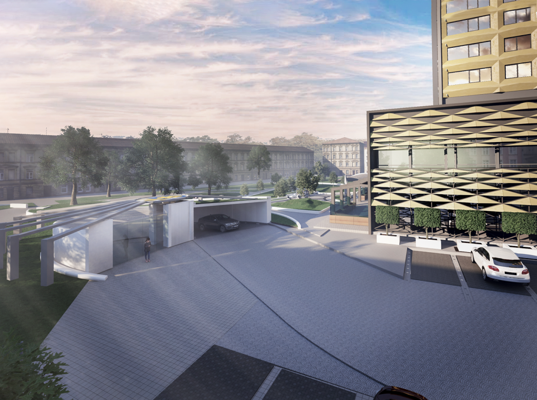 Преди обсъждането бяха предоставени само три визуализации как ще изглежда пространството след изграждането на паркинга