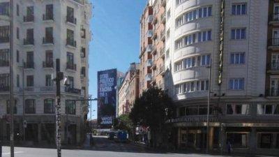 Необичайно тихи и пусти са улиците на испанската столица Мадрид. Снимки Ангелина Горанова
