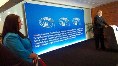 Премиерът Бойко Борисов направи отчет за Българското европредседателство в Страсбург. Снимки Десислава Георгиева