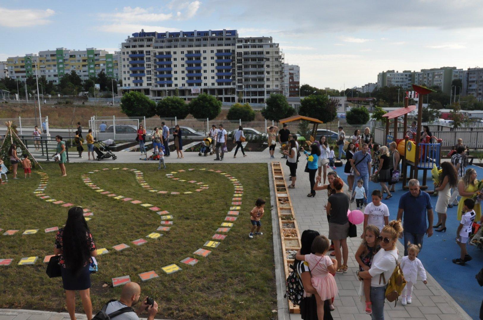 Градината е с капацитет за 100 деца. Снимки Община Бургас