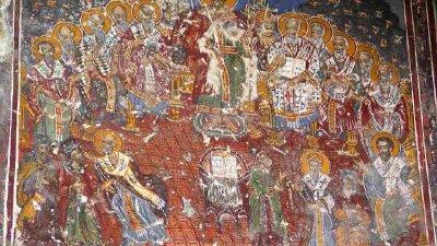Св. равноапостолен Константин Велики и отците на Първия вселенски събор в Никея