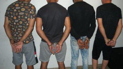 Задържаните при специализирана операция. Снимка ОД на МВР