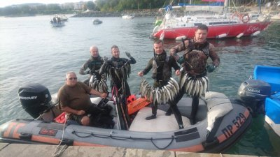 Отборът на Черноморец се класира първи на състезанието в Приморско. Снимка Личен архив