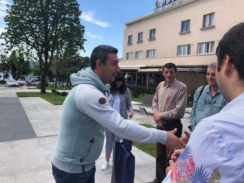 Кметът на Царево Георги Лапчев поздрави участниците в изложбата. Снимки Община Царево