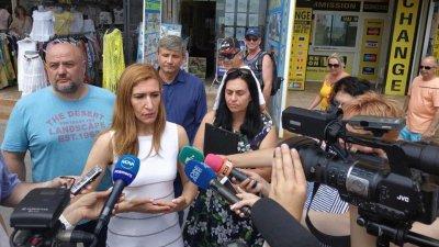 Министър Ангелкова участва в съвместна проверка в Слънчев бряг. Снимка Министерство на туризма