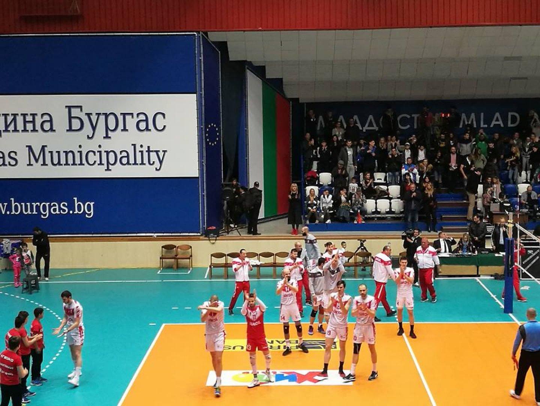 Следващата среща на Нефтохимик 2010 срещу ЦСКА е на 23-и април. Снимка Пресцентър Община Бургас