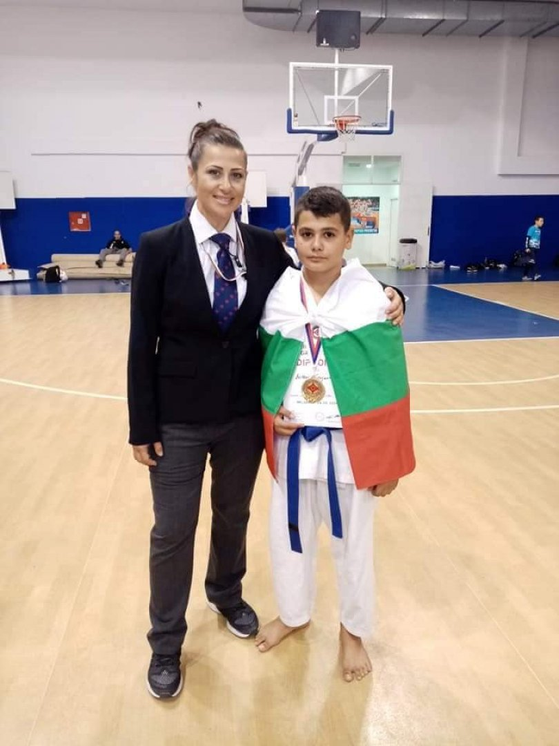 Митко с треньора си Гергана Апостолова
