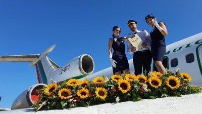 Миналата година за първи път имаше изнесен сватбен ритуал на Авиомузея. Снимка Парти Сървис Крис