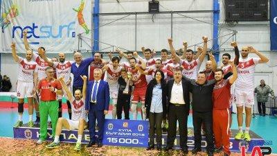 Бургаските волейболисти заслужено спечелиха Купата на България. Снимка Пресцентър Община Бургас
