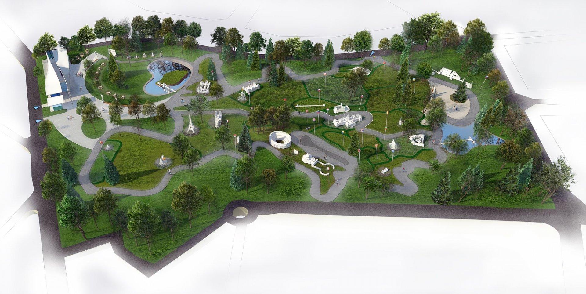 Това е работен проект на бъдещия парк