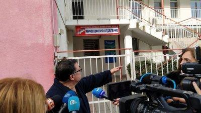 3 пациенти с корона вирус се лекуват в Инфекциозното отделение в бургаската УМБАЛ. Снимка Архив Черноморие-бг