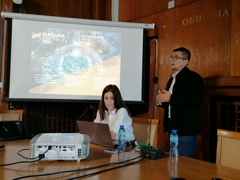 Андрей Арнаудов промотира платформата, която ще стартира през април. Снимка Лина Главинова