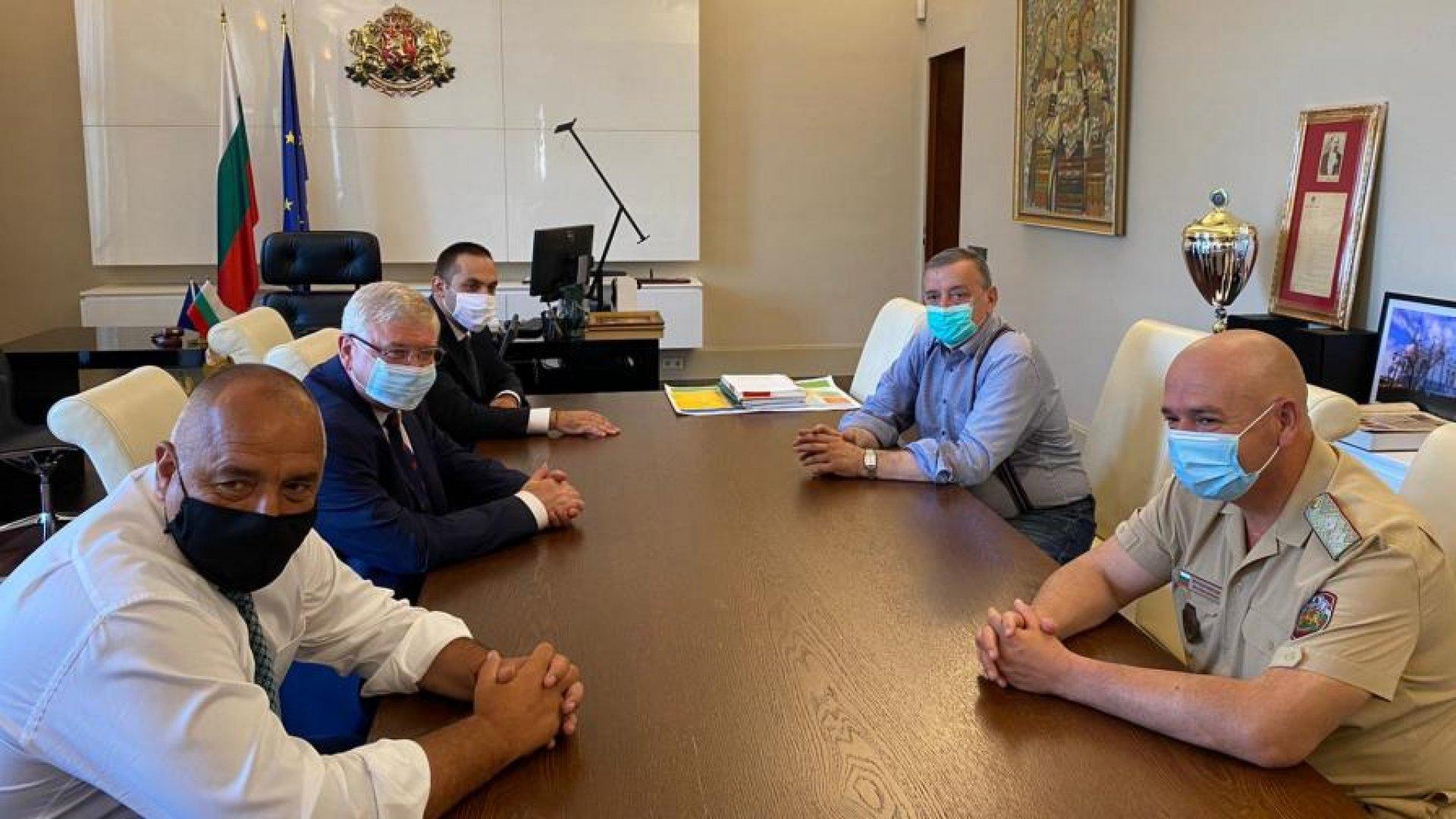 Срещата на премиера с представители на НОЩ е по повод увеличените случаи на COVID. Снимка БГНЕС