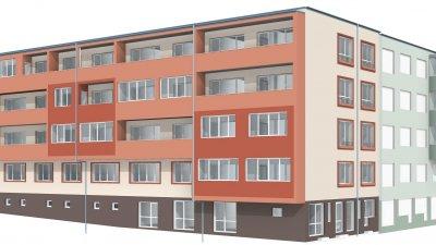 Така ще изглежда блока, след като приключат дейностите по проекта. Снимки и визуализация Община Бургас