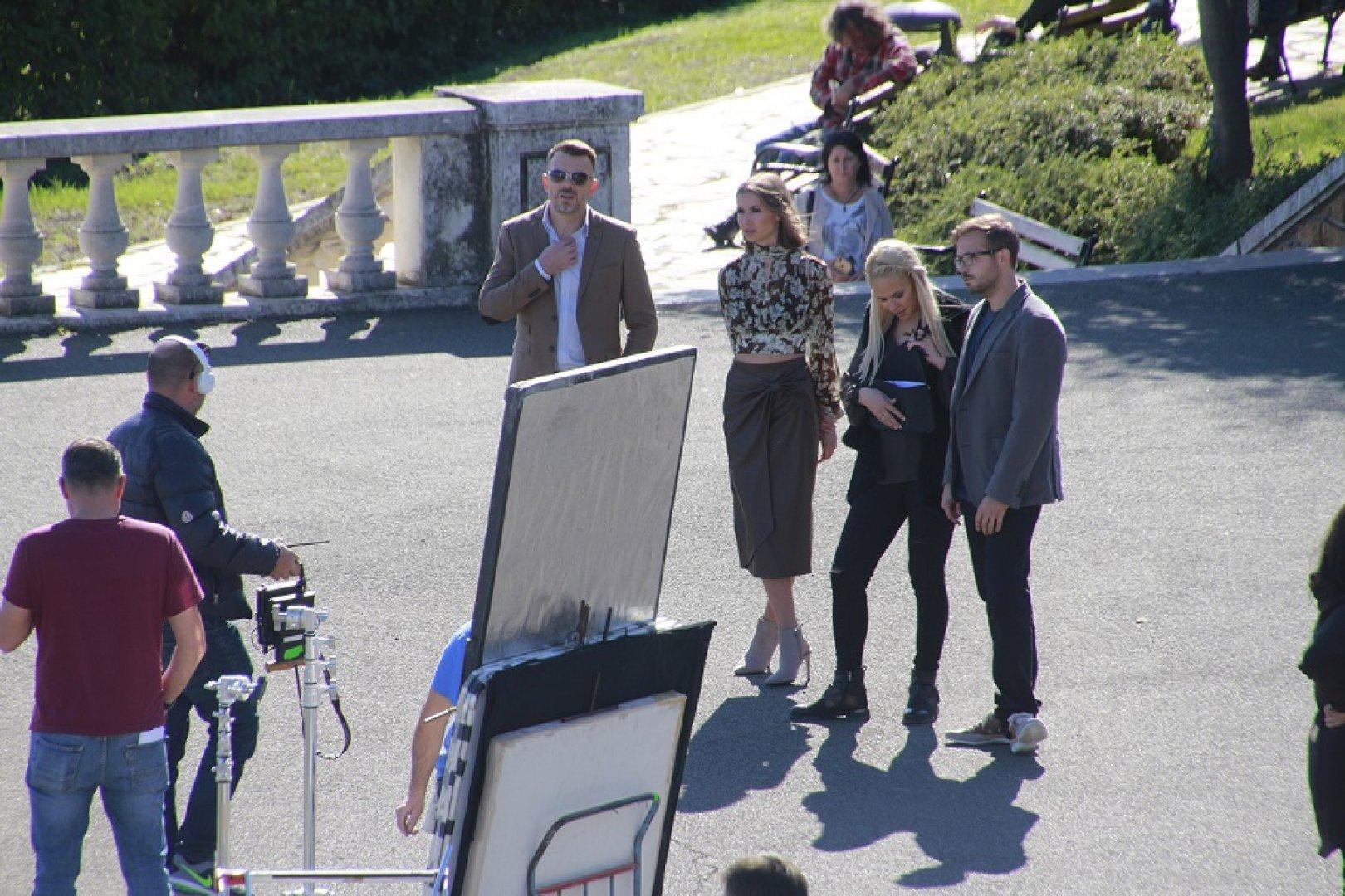 Снимките на филма започнаха на терасата до Казиното. Снимки Община Бургас