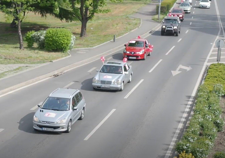 Автошествието премина по предварително начертан маршрут. Снимки БСП - Бургас