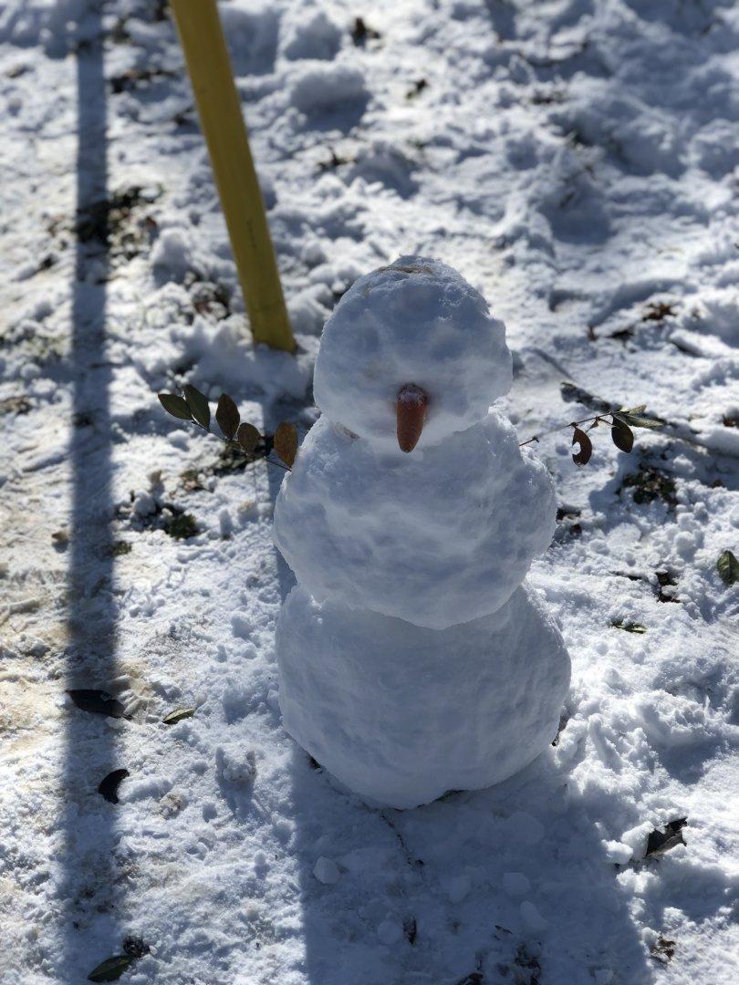 За малчуганите най-вълнуващо е да направят снежен човек сами. Снимки Авторът