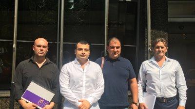 Константин Бачийски (в средата) представи още трима от листата на СЕК за предстоящите местни избори