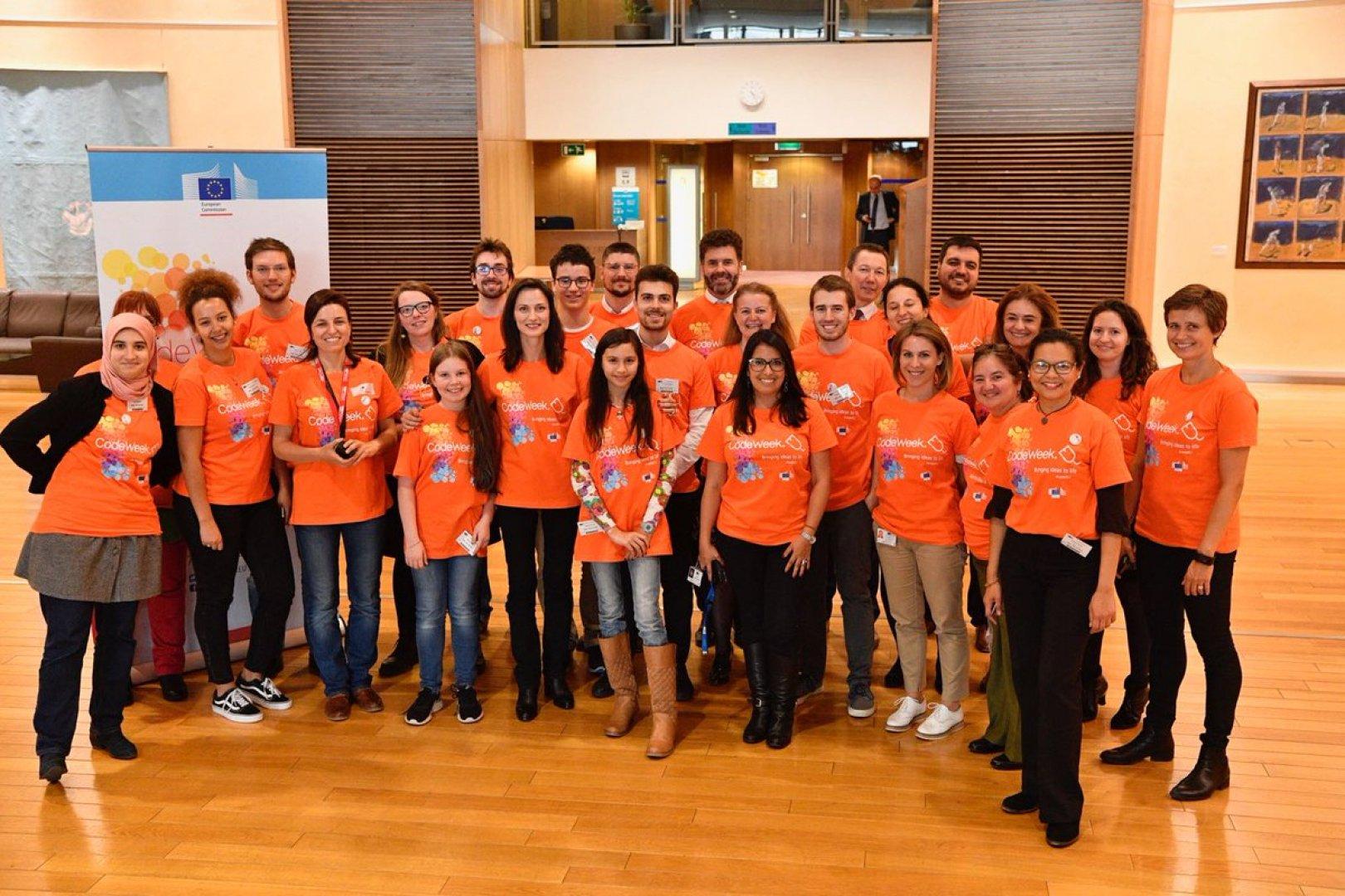 Европейската седмица на програмирането е подкрепяна от Европейската комисия. Снимка Представителство на ЕК в България