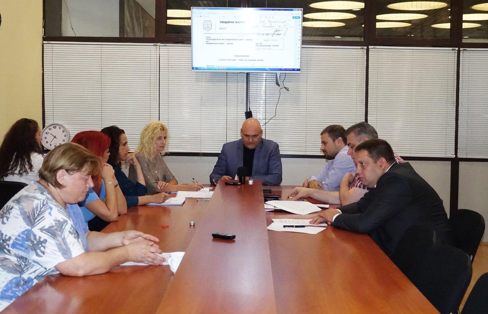 Съветниците одобриха докладната записка, която ще бъде гледана на сесия на местния парламент. Снимка ОбС - Варна
