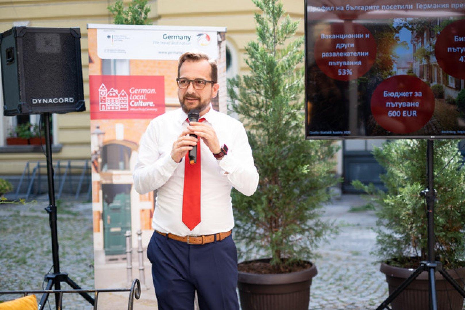 Броят на българите посетили Германия през 2020 година е намалял само с 35 %, отбелязаКристиян Салай, регионален мениджър заБалканските държави наТуристически борд на Германия