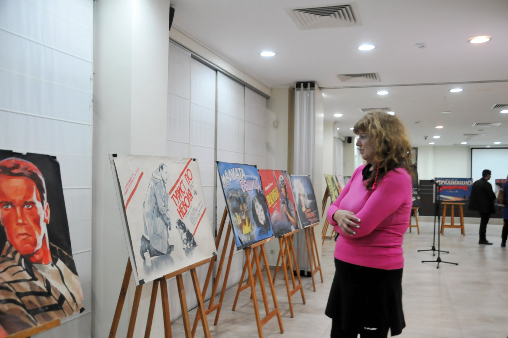 Изложбата бе открита в Деня на българското кино. Снимки Лина Главинова