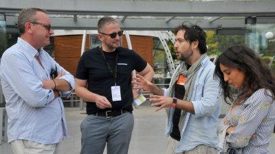 В Бургас вече е и режисьорът Дианмарко Дагостино (вдясно), чийто филм участва в официалната селекция на фестивала. Снимки Лина Главинова