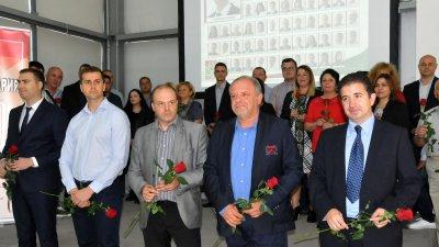 Стоян Коларов (вторият отляво навясно) влиза в ОбС на мястото на Николай Тишев. Снимки Архив Черноморие-бг
