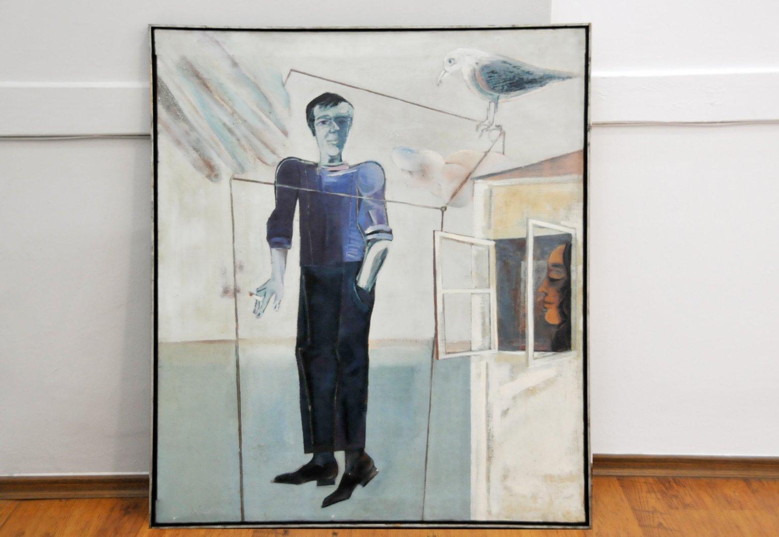 Портретът на Христо Фотев е една от картините на Стоян Цанев, които са включени в изложбата. Снимки Лина Главинова